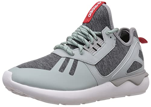 best service f0365 55a53 adidas Originals Men s Tubular Runner Weave Grey, Red and White Running  Shoes - 11 UK