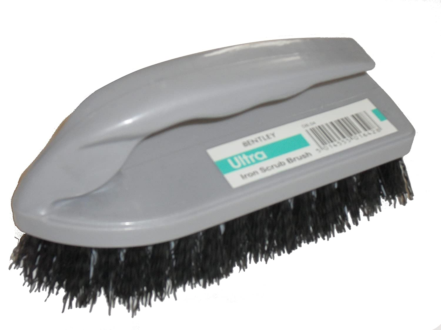 IRON SHAPED SILVER PLASTIC SCRUBBING BRUSH Bentley
