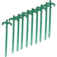 Bodenanker,Netzspanner, Folienspanner 10er Pack -ca. 25cm lang mit 2 Haken, ideal für Schafnetze,Geflügelnetze und Hundezaun