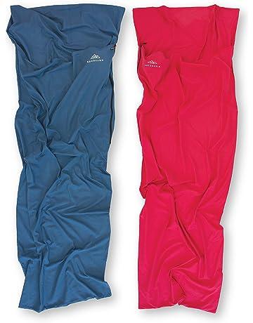 NORDKAMM – Saco de Dormir de Microfibra, Azul, Sábana para Saco de Dormir,