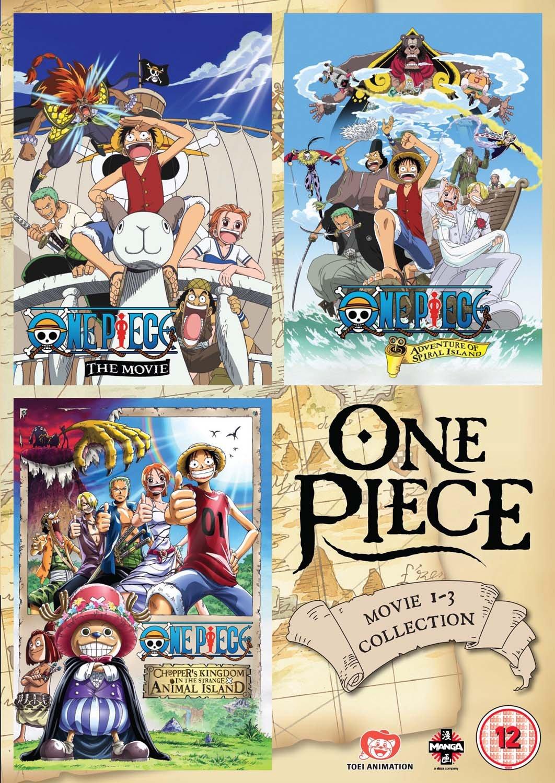 Amazon.com: One Piece Movie Collection 1 (Contains Films 1-3) [DVD]: Akemi  Okamura, Hiroaki Hirata, Ikue Ohtani, Kappei Yamaguchi, Junji Shimizu,  Akemi Okamura, Hiroaki Hirata: Movies & TV