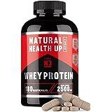 Proteinas Whey Protein para aumentar la masa muscular y el rendimiento deportivo - Suplemento deportivo de proteínas de suero ideal para deportistas - 180 comprimidos masticables (Sabor Chocolate)