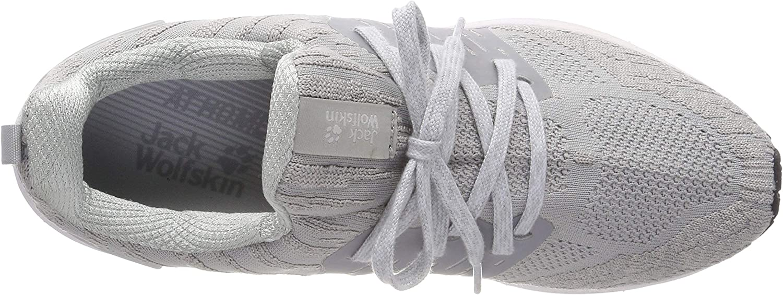 Jack Wolfskin Coogee Knit Low, Scarpe da Ginnastica Basse Donna Grigio Slate Grey 6046