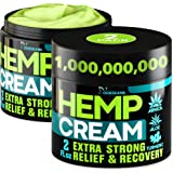 (2 Pack) Hemp Cream for Joint, Back, Knees, Neck, Elbows - Made in The USA - High Strength Hemp Oil Extract with Msm, Arnica,