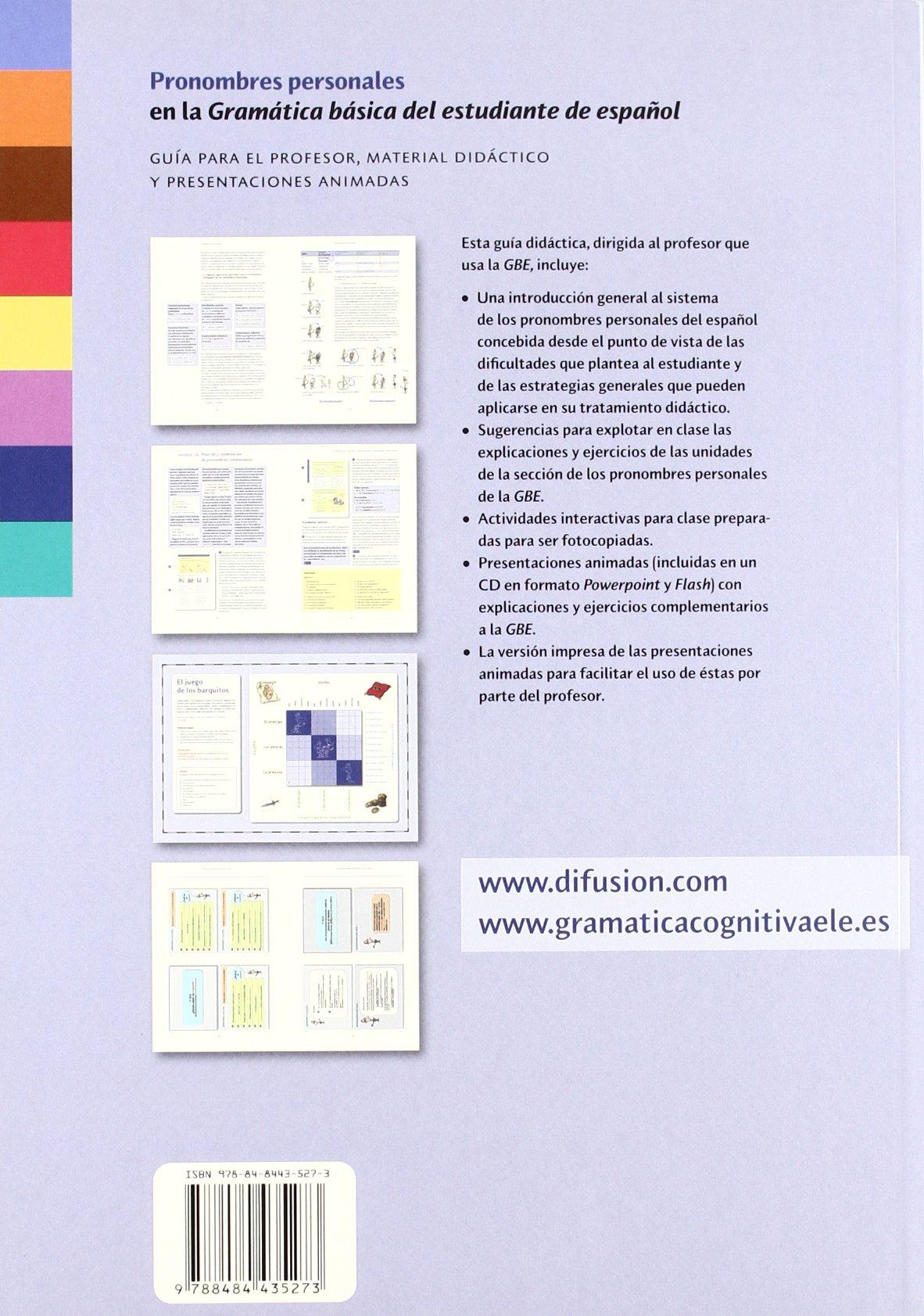 Pronombres personales : Guía para el profesor, material didáctico y presentaciones animadas: Aa Vv: 9788484435273: Amazon.com: Books
