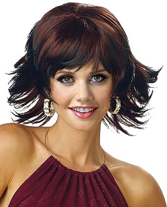 amazoncom uhc womens trippy shag wig adult halloween costume accessory auburn clothing