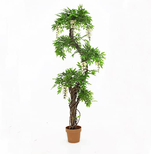 """Decorative Natural Looking Artificial 40/"""" Boston Fern w//Stand Silk Plants Asian"""