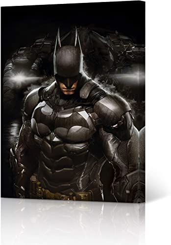 HB Art Design Batman Wall Decor Batman and The Batmobil Canvas Wall Art Print Superhero Character Boy Gift Kids Room Office Dorm Decor Poster Ready to Hang