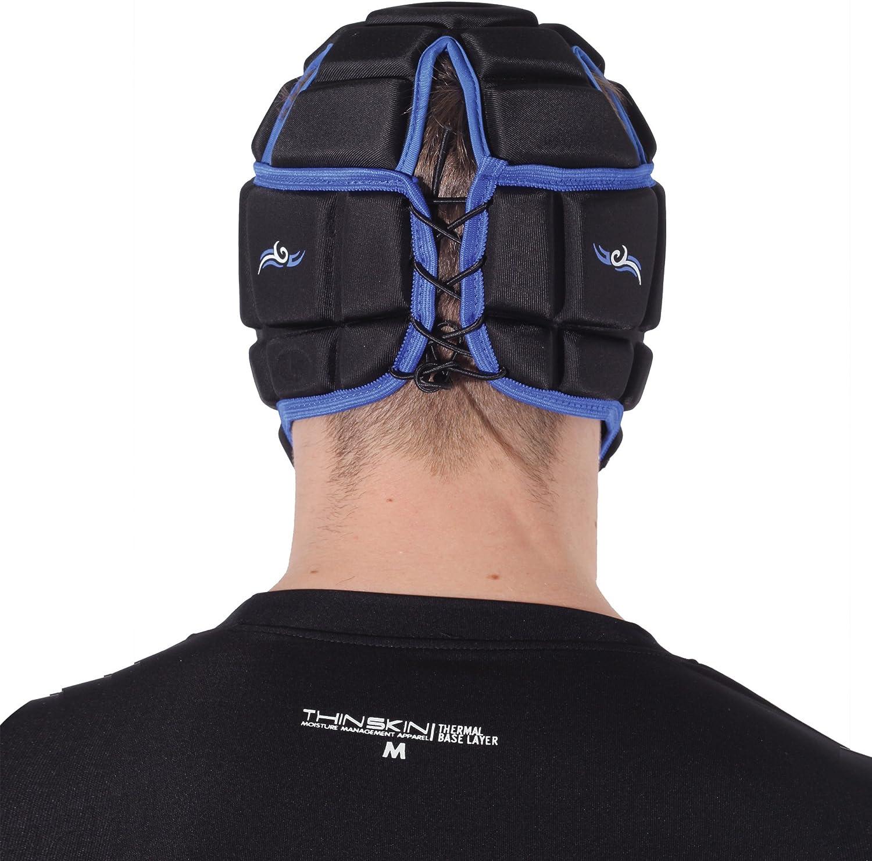 OPTIMUM Tribal Rugby Headguard Scrum Cap Black//Blue