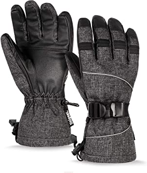 Unigear Guantes De Esqu/í Impermeable Calientes Nieve Snowboard Pantallas T/áctiles Anti-Viento Guantes para Esquiar Deportes Invierno Hombre Mujer