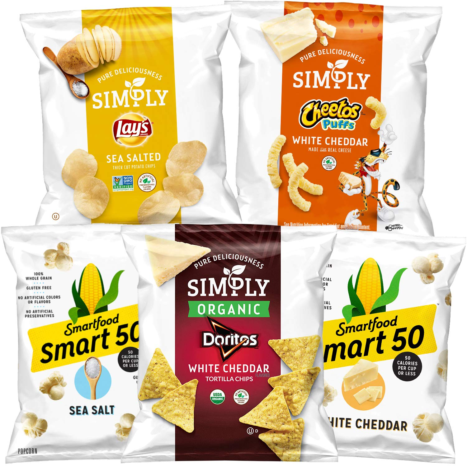 Simply & Smart50 Variety Pack, (36 Pack) (Packaging May Vary) by Simply