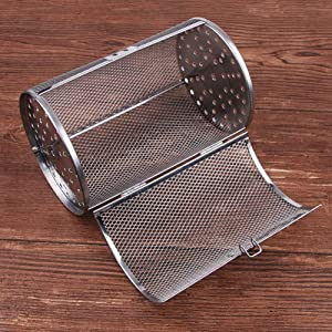Studyset Stainless Steel Rotisserie Grill Roaster Drum Oven Basket,Rotisserie Grill Roaster Drum Oven Basket Baking Fit for Coffee Beans Peanut BBQ 20 11.7cm