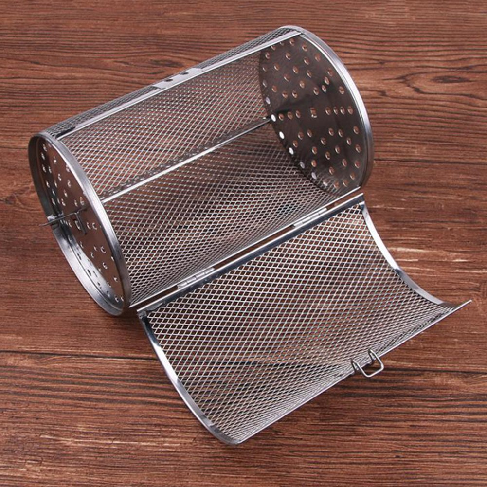 SZBYKJ Rotisserie Grill Roaster, Stainless Steel Rotisserie Grill Roaster, Drum Oven Basket Bakeware Oven Roast Fit for Coffee Beans Peanut BBQ by SZBYKJ