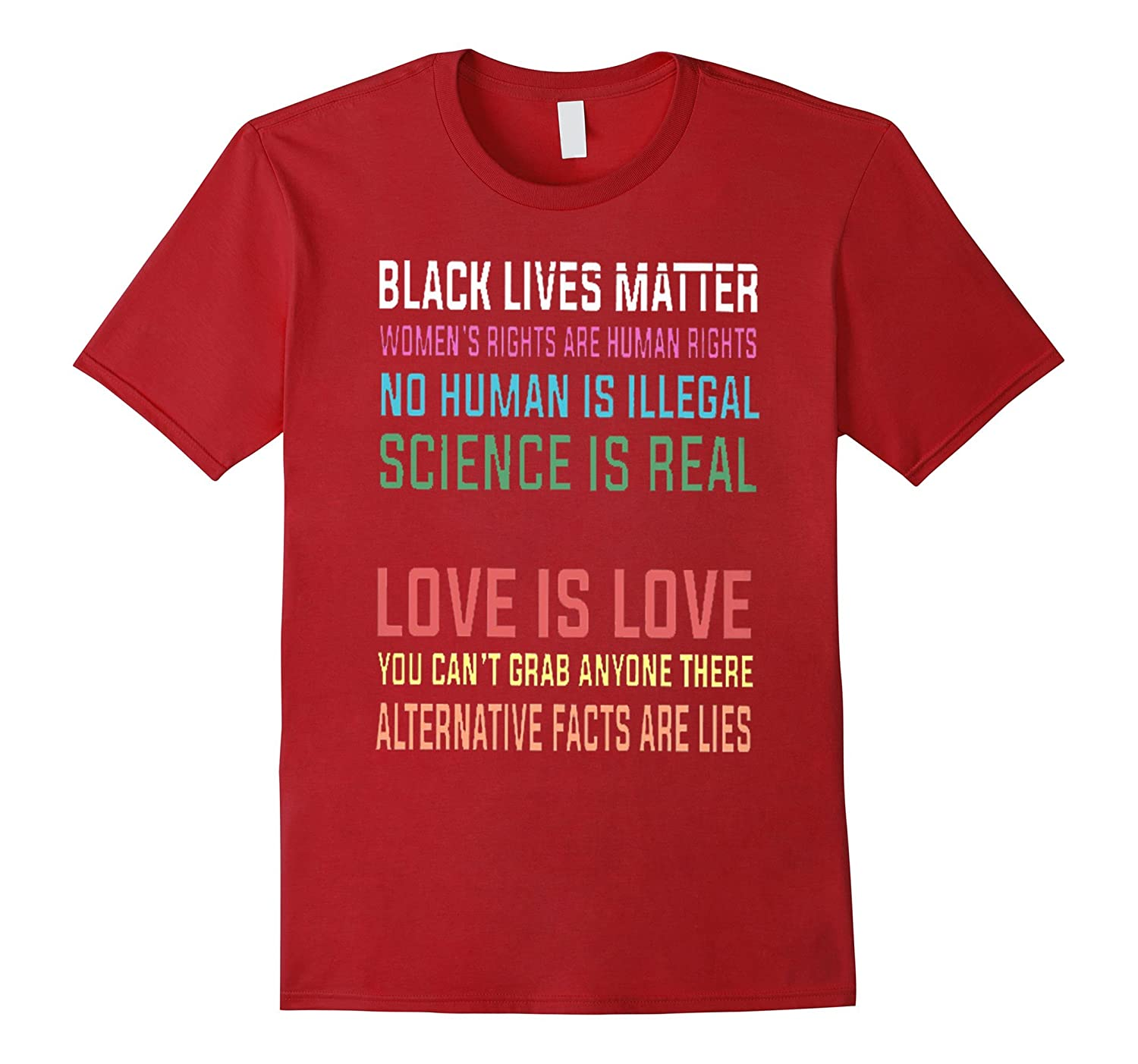 """Black Live Matter Women""""s rights Are Human Rights T-shirt"""