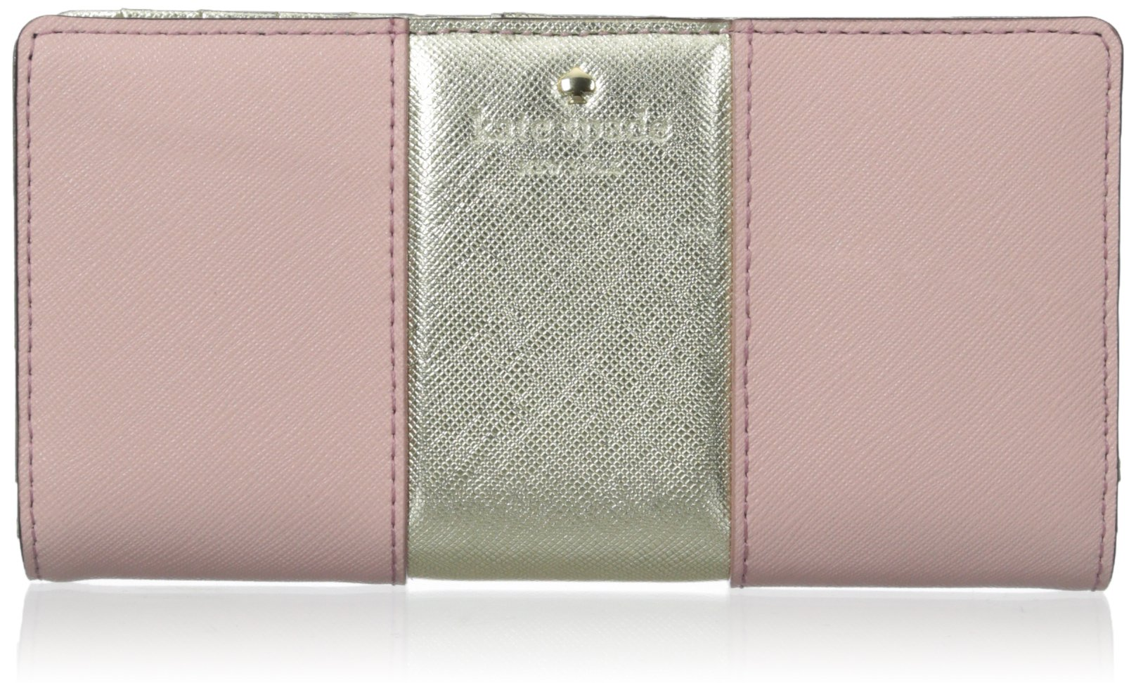 kate spade new york Cedar Street Racing Stripe Stacy Wallet, Rose Jade/Gold, One Size