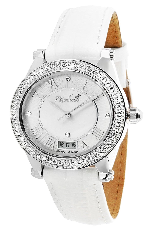 Miabelle Damen-Armbanduhr Analog Quarz Leder 12-005W-C