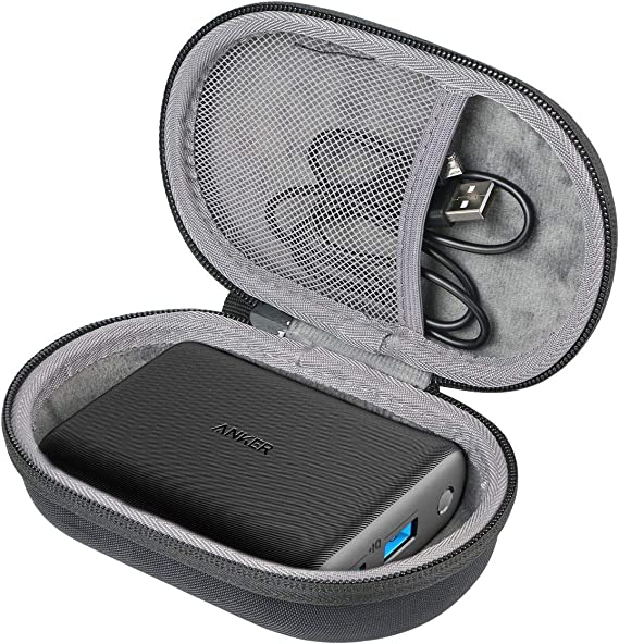 co2crea Hard Travel Case for Anker PowerCore 15000 Redux Compact 15000mAh 2-Port Ultra-Portable Phone Charger Power Bank