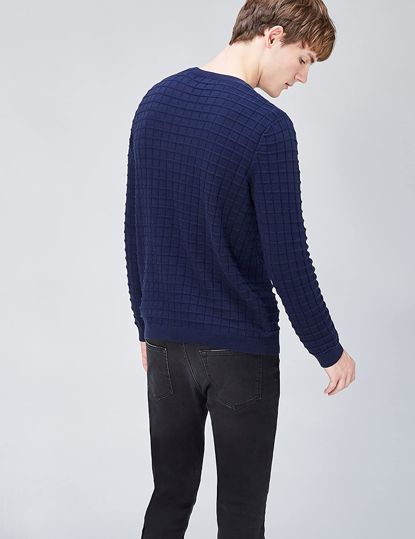 Mens Cotton Grid Knit Jumper find