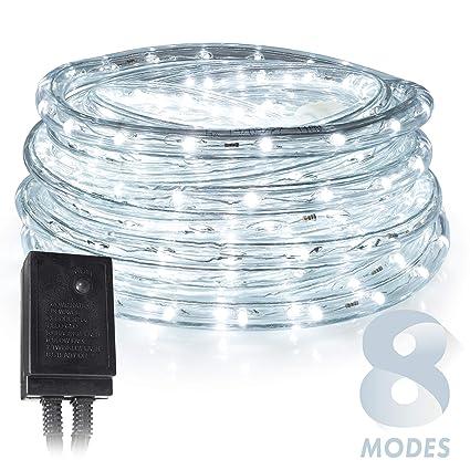 Amazon.com: West Ivory - Cuerda de luces LED de color blanco ...