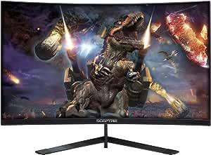 "Sceptre 27"" Curved 144Hz Gaming LED Monitor Edge-Less AMD FreeSync DisplayPort HDMI, Machine Black 2020 (Machine Black)"