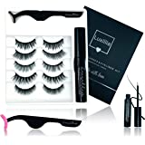 Luxillia by Amazon 8D Magnetic Eyelashes with Eyeliner Kit, Most Natural Look, Strongest Hold, Waterproof Liquid Eye…