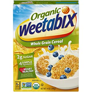 Weetabix Organic Whole Grain Cereal Biscuits, USDA Certified Organic, Non-GMO Project Verified, Heart Healthy, Kosher, Vegan, 14 Oz Box