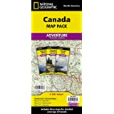 Canada Map Pack: Canada West/ Canada Central/ Canada East (National Geographic Adventure Map)