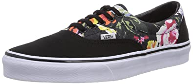 Vans U ERA (FLORAL) BLACK/, Unisex-Erwachsene Sneakers, Schwarz (