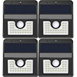Vivii Solar Lights, Motion Sensor 30 LED Super Bright Security Lights Solar Outdoor Spotlight Flood Lighting for Backyard Garden Patio and Pathway, 4 PK