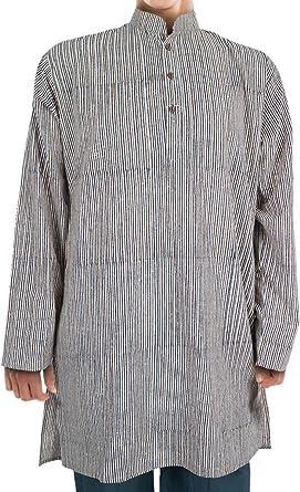 ufash majarash Camisa de de de la India, Largo hasta la Rodilla, Tradicional handbedruckt, Unisex, 100% algodón