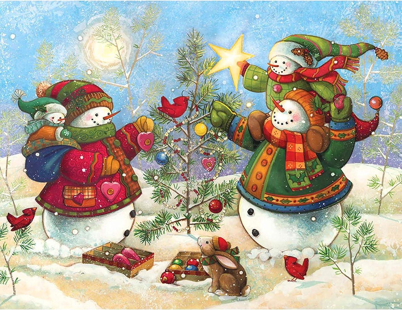 DIY 5D Diamond Painting Full Drill Embroidery Christmas Santa Snowman Home Decor