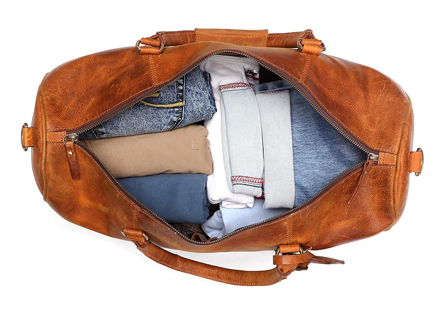 Leather Duffel Bags for Men - Airplane Underseat Carry On Luggage by  RusticTown DF17ADN 606813322e0fd