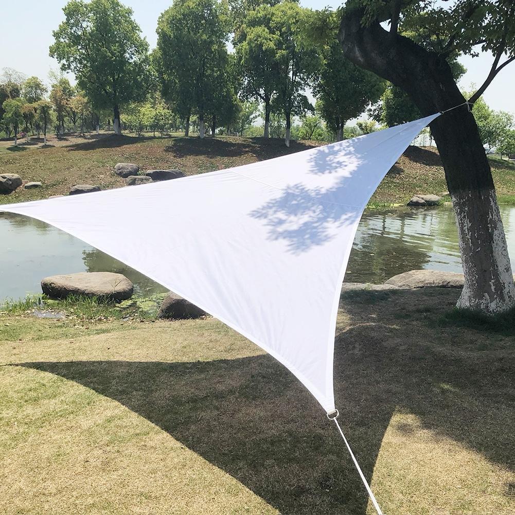Triangolo vela parasole impermeabile giardino cortile, all' aperto, campeggio, picnic, con corda, bianco all' aperto Lembeauty
