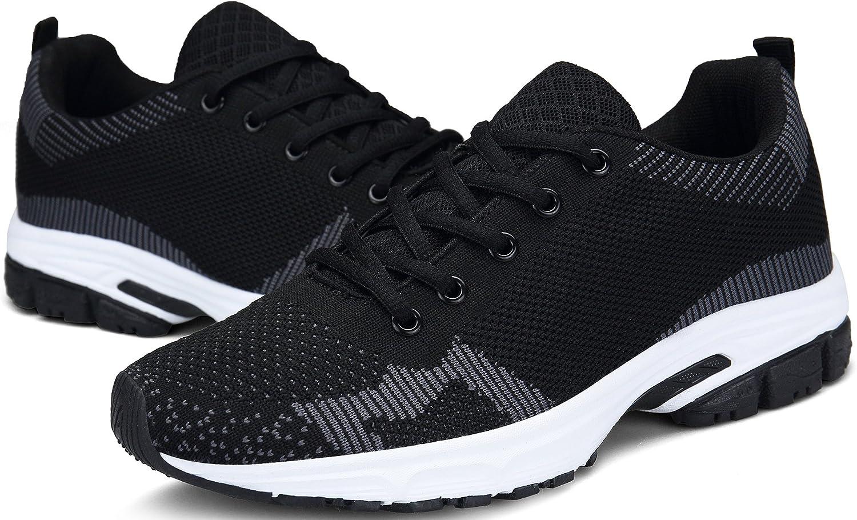 DENGBOSN Basket Homme Femme Chaussures de Course Running Sport L/éger Fitness Sneaker