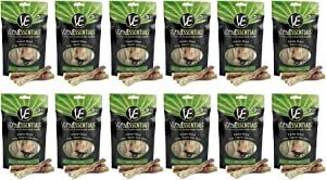 Vital Essentials 12 Pack Freeze-Dried Bully Sticks Grain Free Limited Ingredient Dog Treats, 5 Pieces Per Each Bag