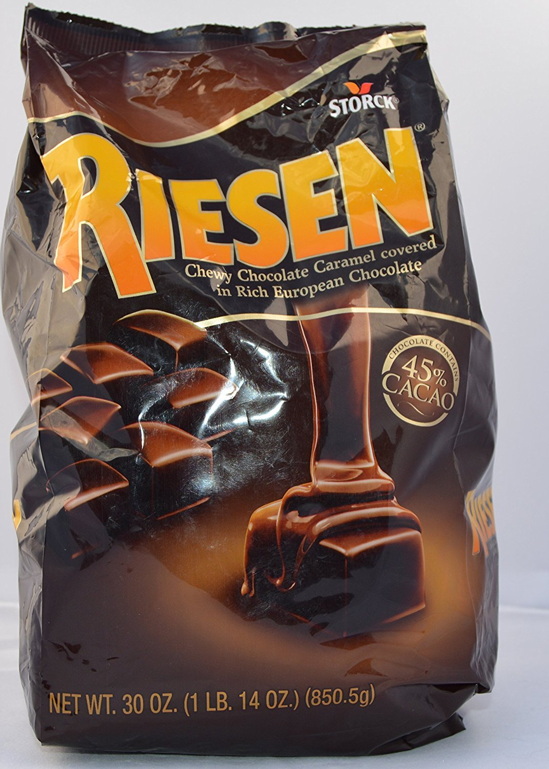 Riesen Chewy Chocolate Caramel Covered in Rich European Chocolate, 30 Oz (2 Count)
