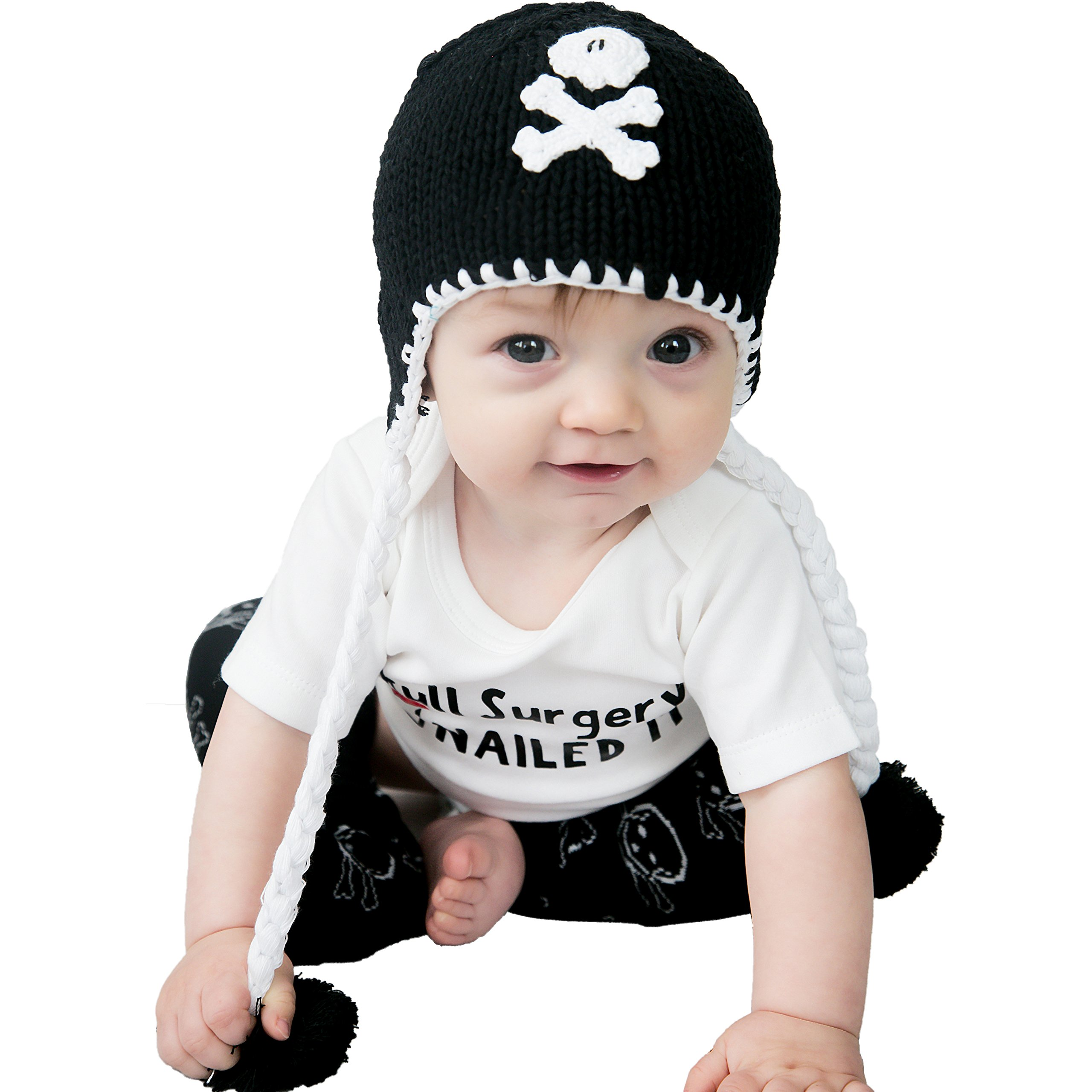 Huggalugs Baby and Todder Boys Pirate Skull Beanie Hat M