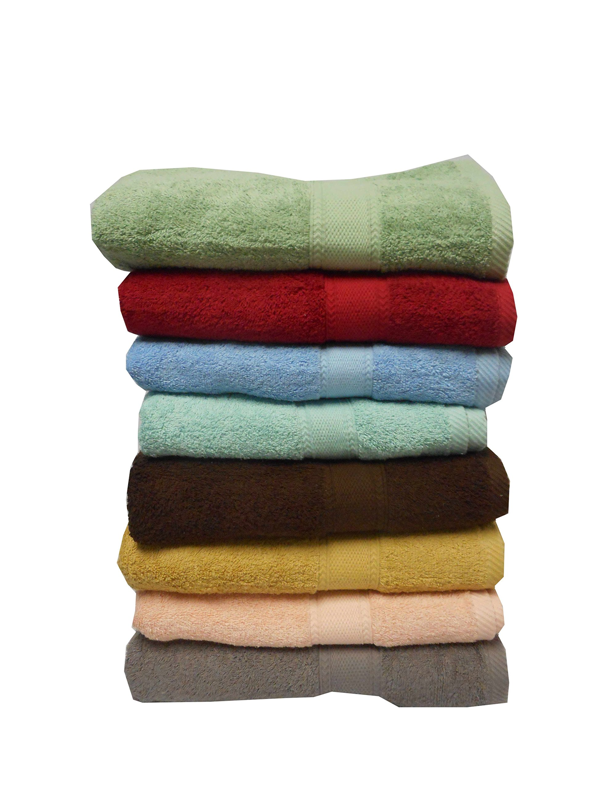 Livingston Home Standard Quality 4 Pcs Pack Bath Towels Assorted Style & Color May Vary, 26 X 52 Inch , Multicolor