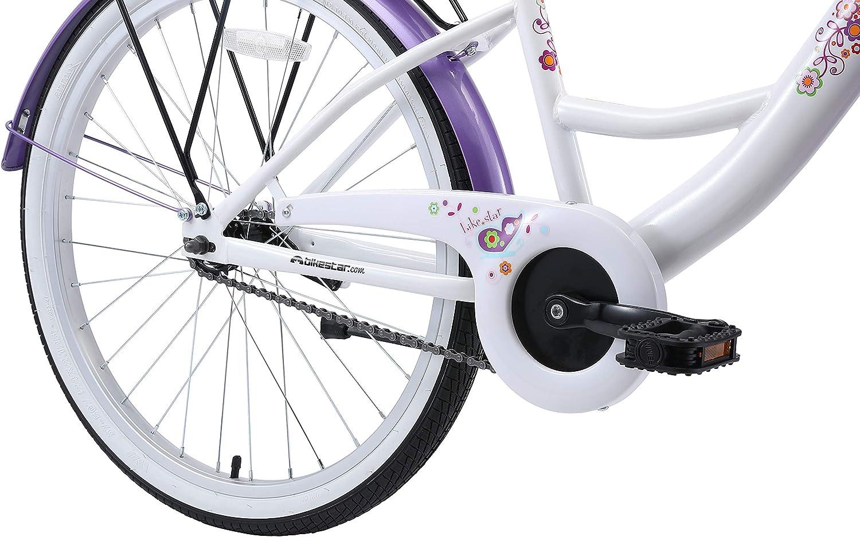 BIKESTAR Bicicleta Infantil para niñas a Partir de 10 años | Bici 24 Pulgadas con Frenos | 24