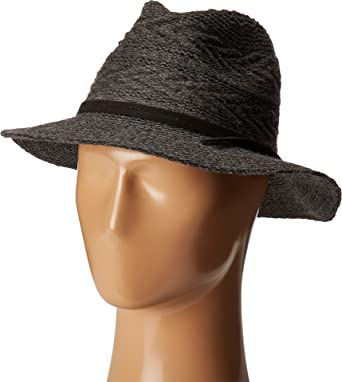 e98aff84412 San Diego Hat Company Women s CTH8073 Knit Pattern Fedora Charcoal ...