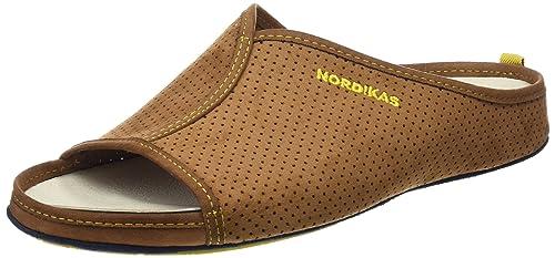 Nordikas Soft Cab, Zapatillas de Estar por casa con talón Abierto para Hombre, (Marrón), 42 EU: Amazon.es: Zapatos y complementos