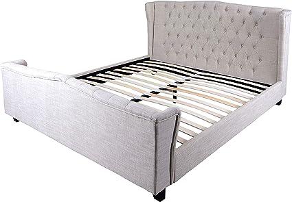 Unbekannt Inglés EHE Chesterfield cama tapizada cama ...