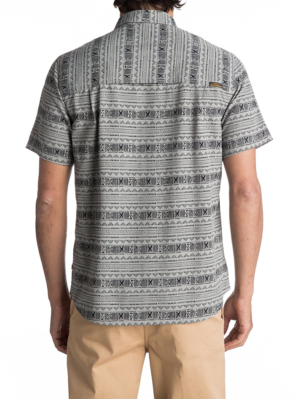Quiksilver Mens Wake Koro Miri Button Down Shirt with Back Vent