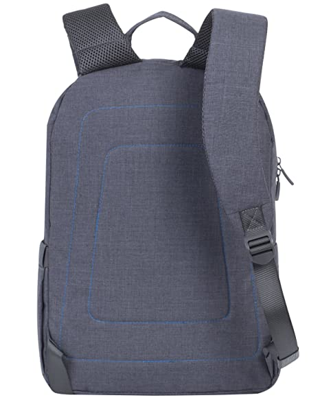 e0abb9aacf Amazon.com  Rivacase 7560 15.6 Inch Laptop Backpack Slim Light Water  Resistant Grey Color  Computers   Accessories