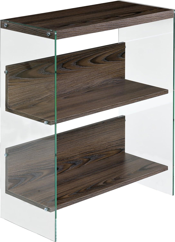 OneSpace Escher Skye 3-Tier Bookshelf, Walnut