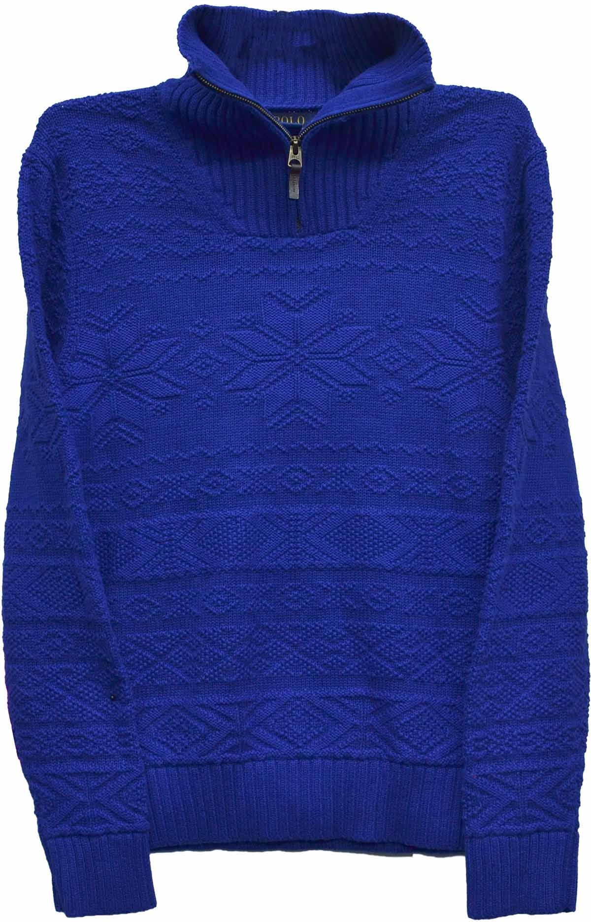 Polo Ralph Lauren Boy's Holiday Sweater Heritage Blue X-Large (18-20)