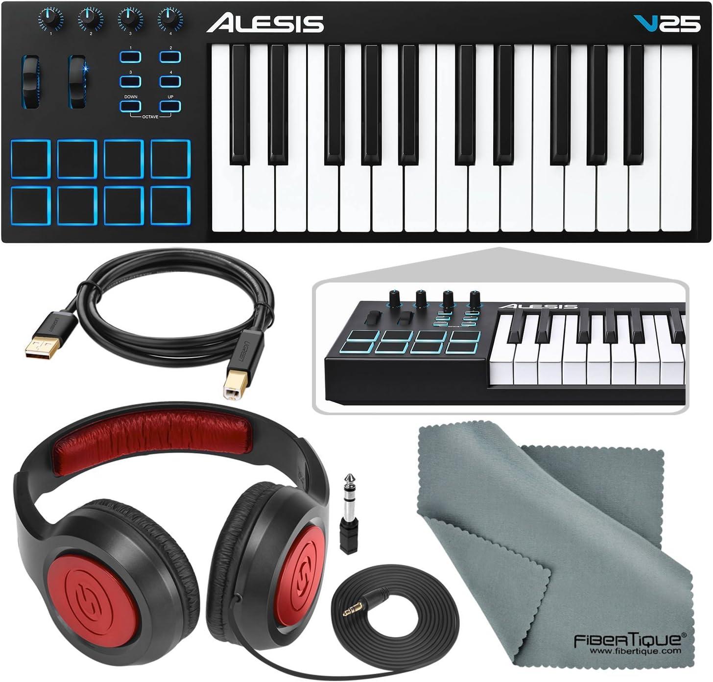 Alesis V25 Controlador de teclado MIDI USB de 25 teclas y ...