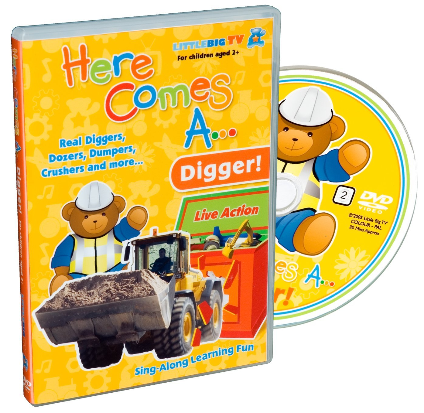 here comes a digger dvd 2004 amazon co uk francesca caleb
