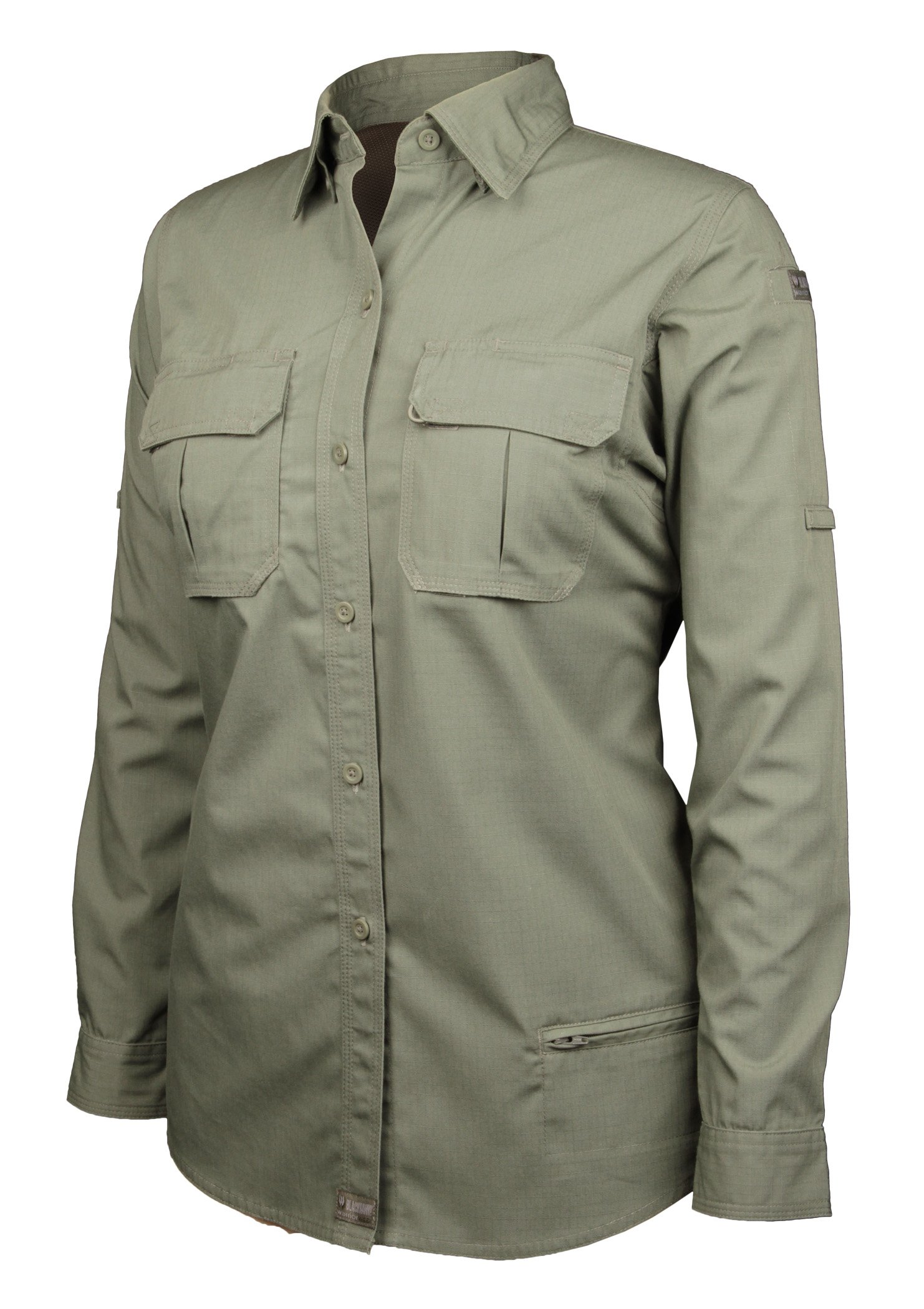 Blackhawk! Women's Lightweight Tactical Long Sleeve Shirt, Olive Drab, Large by BLACKHAWK!