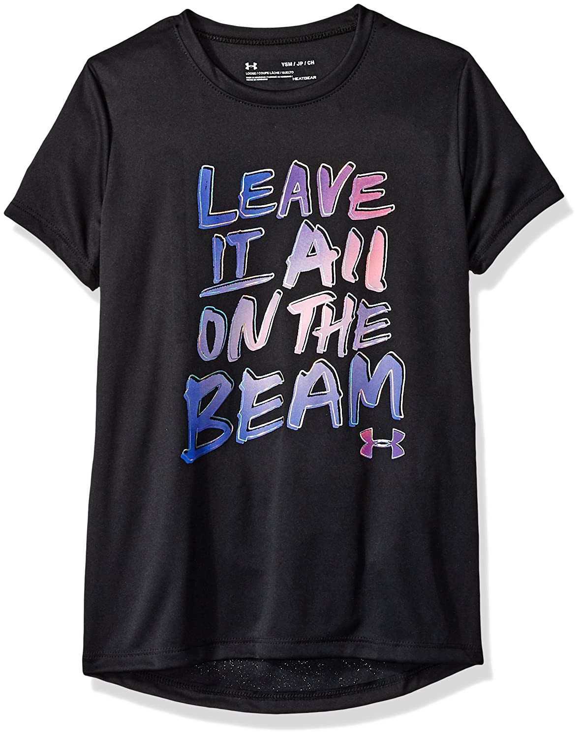 Under Armour Girls Leave it on The Beam Short Sleeve Tee Under Armour Apparel 1327263